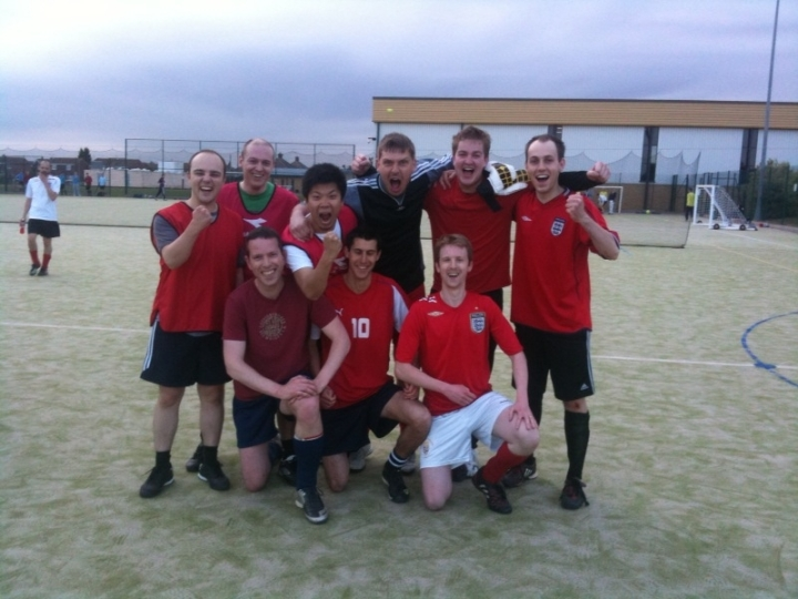 Football winning team!
