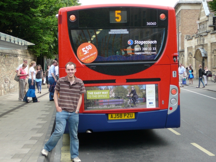 Cycle Cambridge advert on bus
