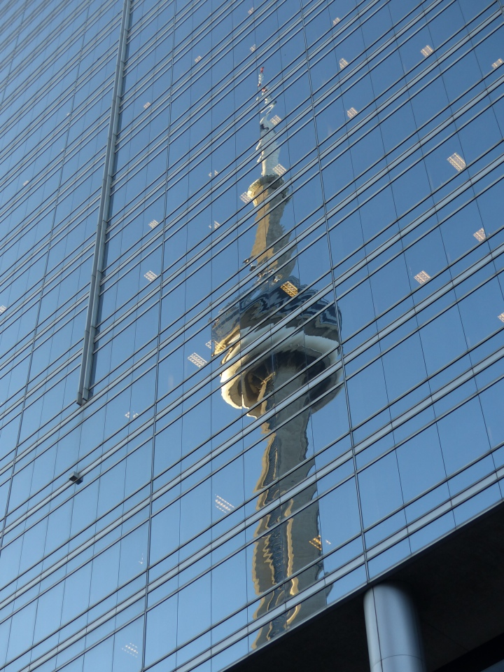 CN Tower reflection