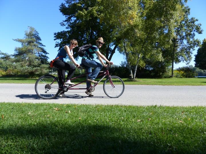 Tandem bike hire on Toronto Islands