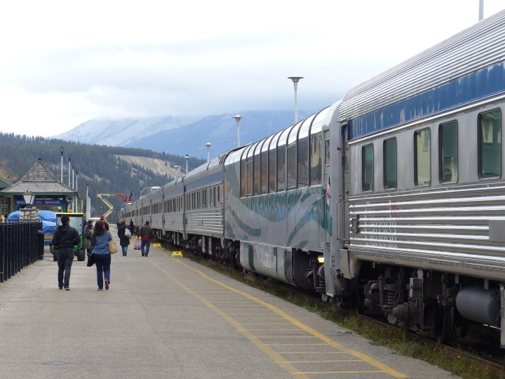 Our huge train at Jasper station