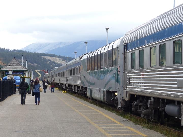 Our huge train at Jasper station