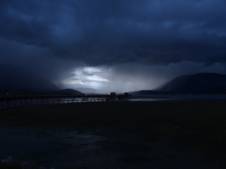 Salmon Arm pier and Shuswap Lake