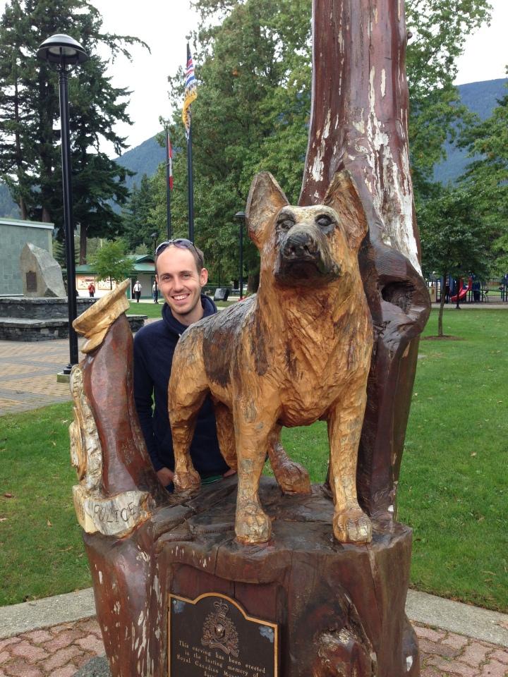 Hope dog wood carving
