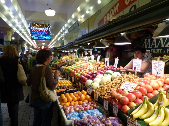 Fruit and veg stall Pike Place Market