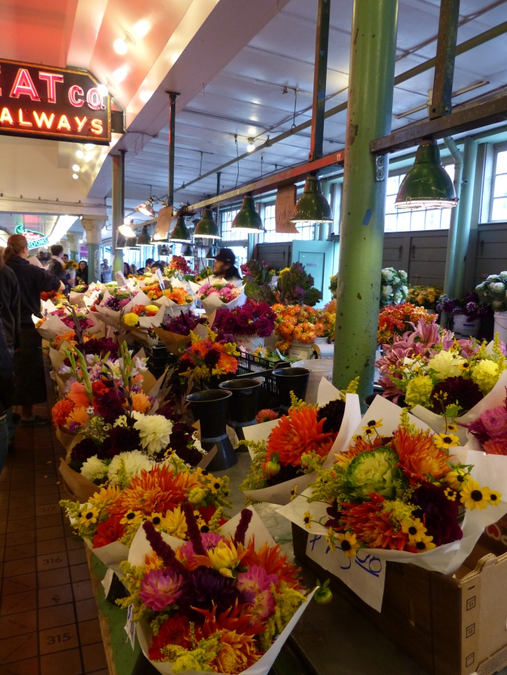 Flower stall Pike Place Market