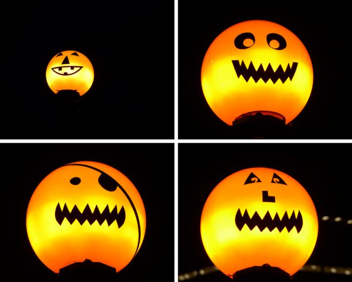 Jack-o'-lantern street lights