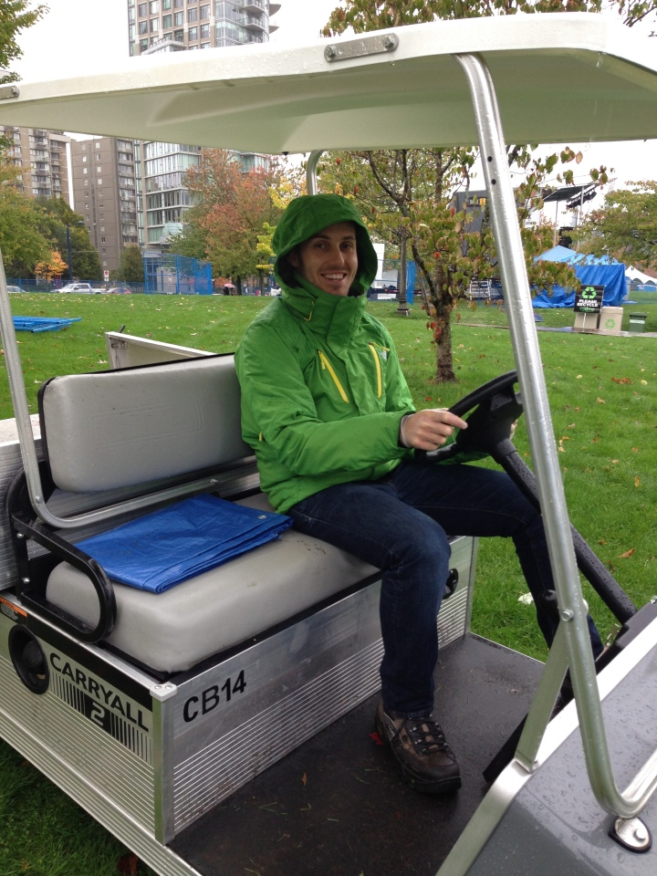 Stewart golf buggy volunteering Vancouver