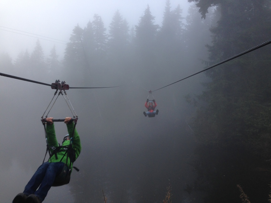 Zipline 3 Grouse Mountain