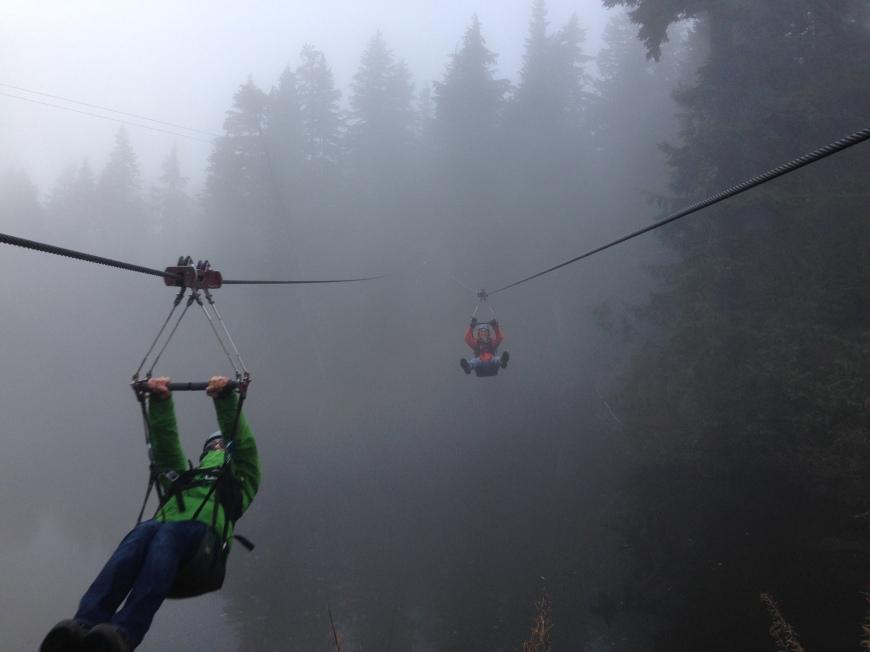 Zipline 3 Grouse Mountain