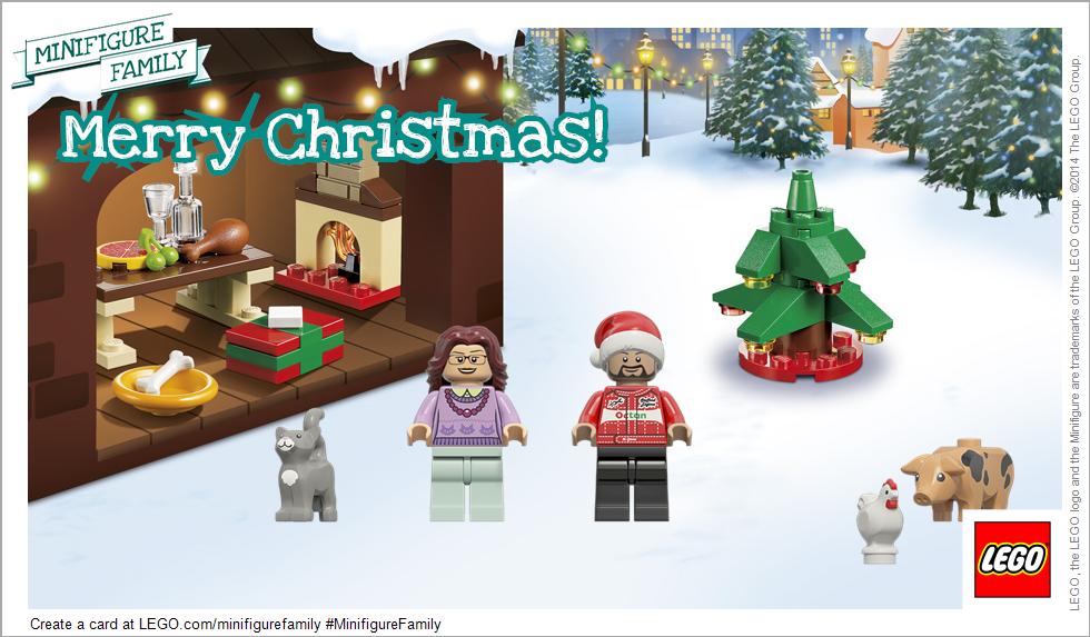 Lego Minifigure Christmas