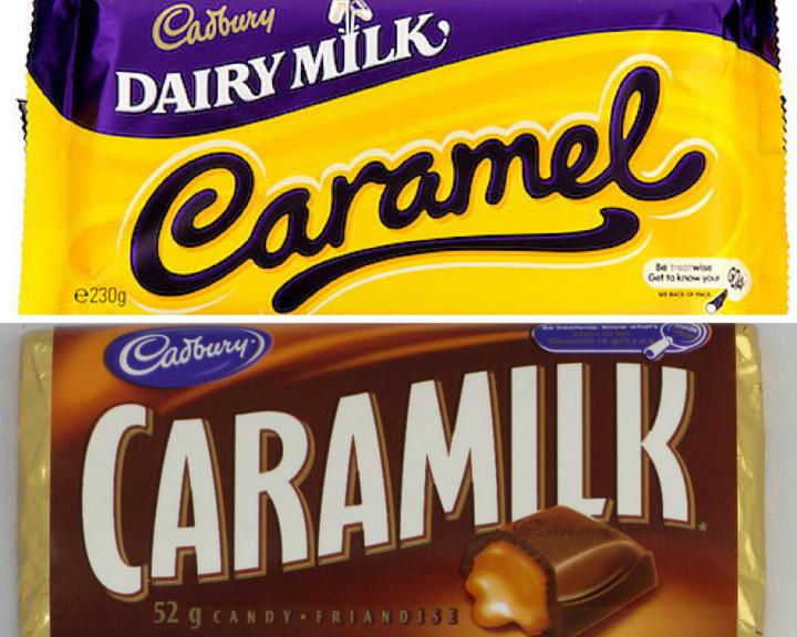Cadbury's Caramel and Caramilk