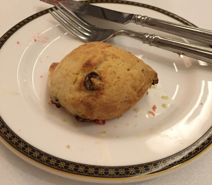 The Langham Boston poor scone