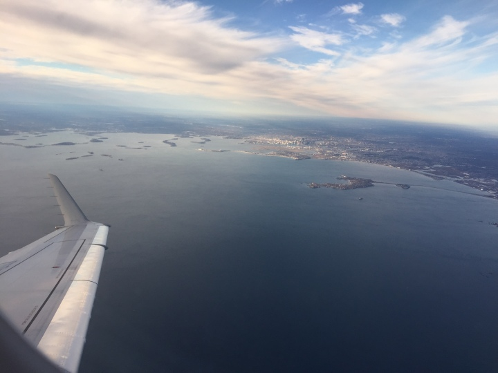 Boston view from plane