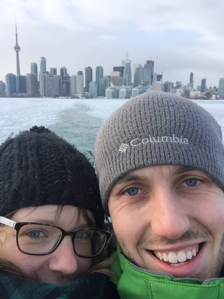 Toronto Islands ferry selfie