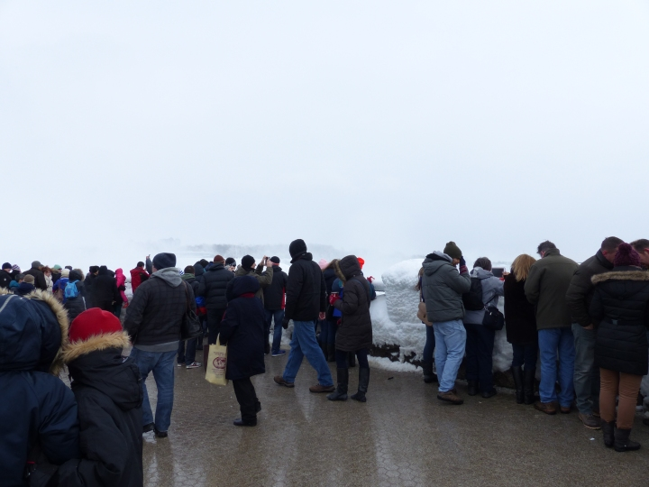 Busy Niagara Falls winter
