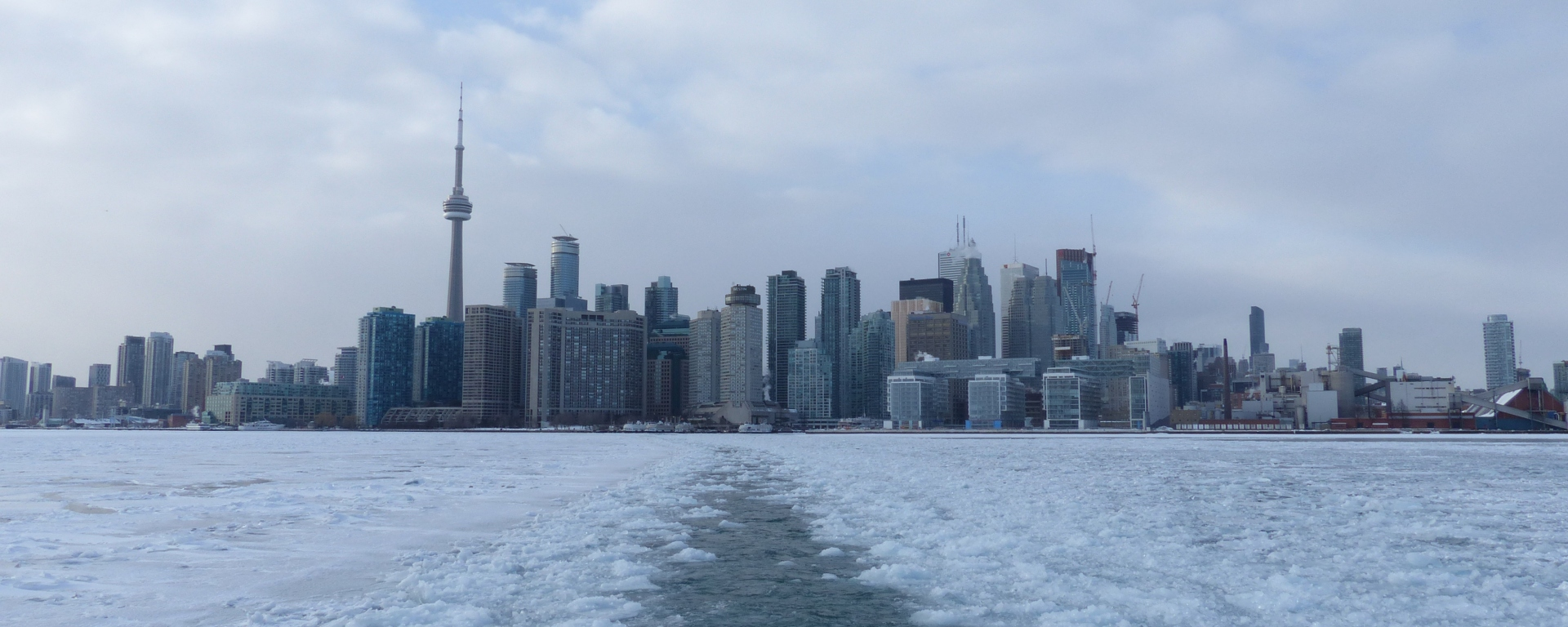 Toronto Islands ferry ice