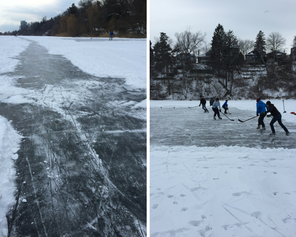 Hockey on Grenadier Pond