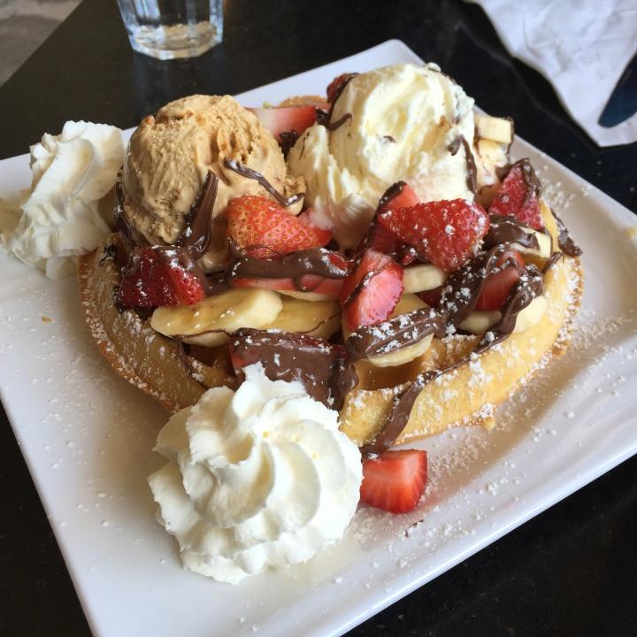 Celebratory waffle