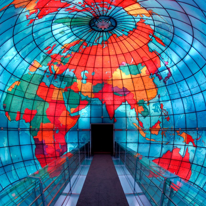 Inside the Mapparium Eurasia and Africa