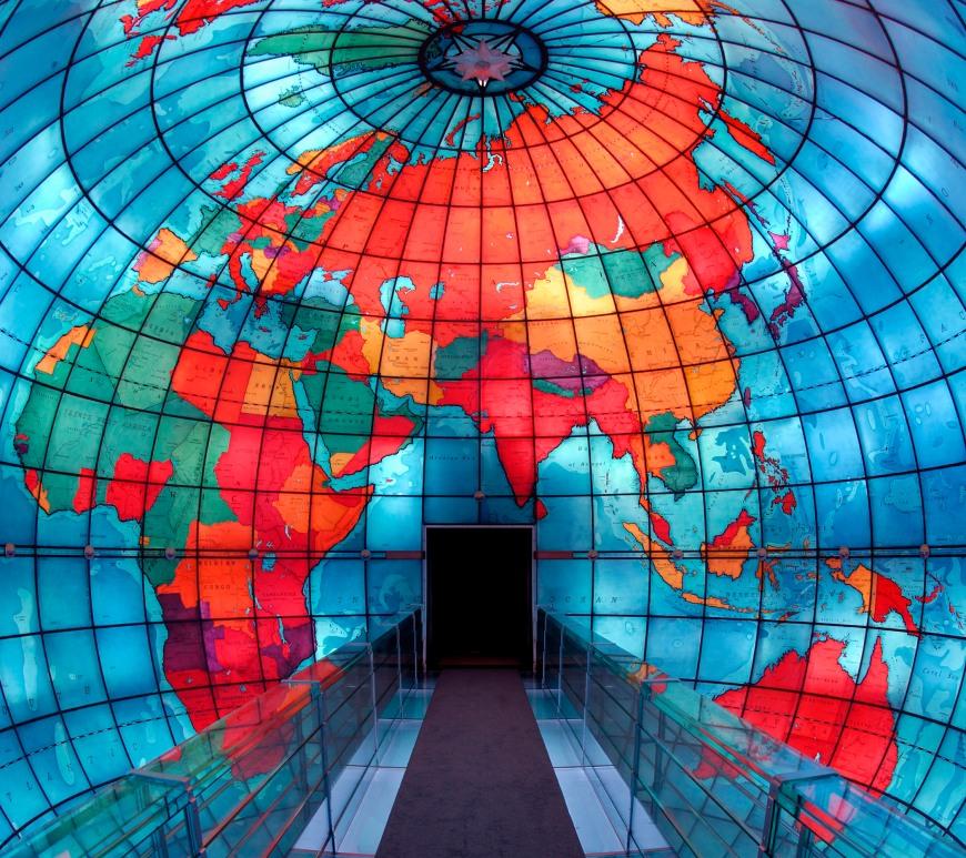 Inside the Mapparium Eurasia and Africa