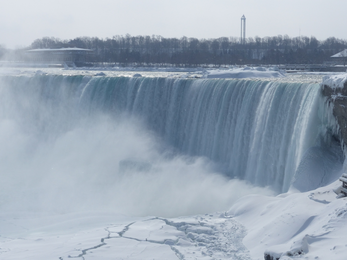 Visiting the Niagara Falls in the winter