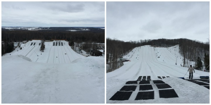 Snow Valley tubing chutes