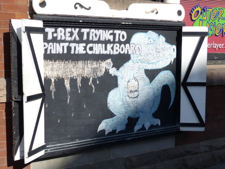 T-Rex Chalkboard