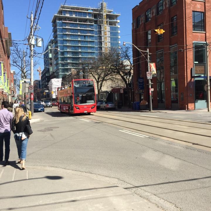 Sightseeing bus Toronto King Street