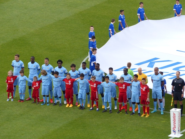 Manchester City line-up