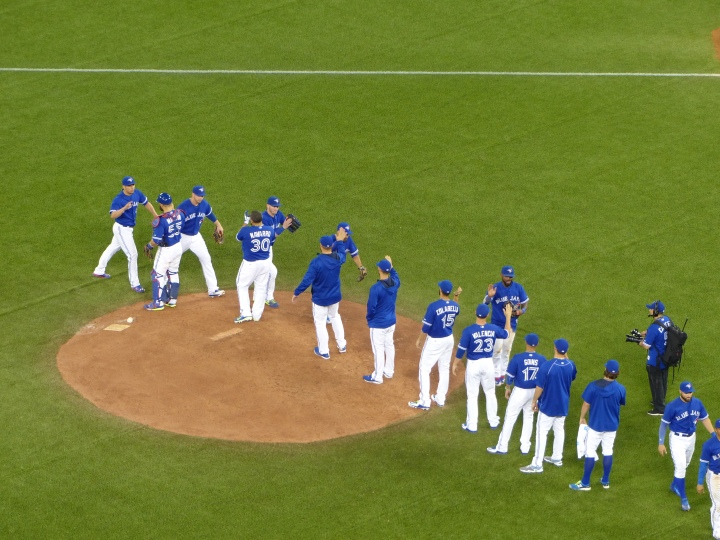 Blue Jays celebration