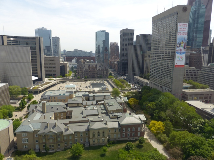 View from the top of the Canada Life Building