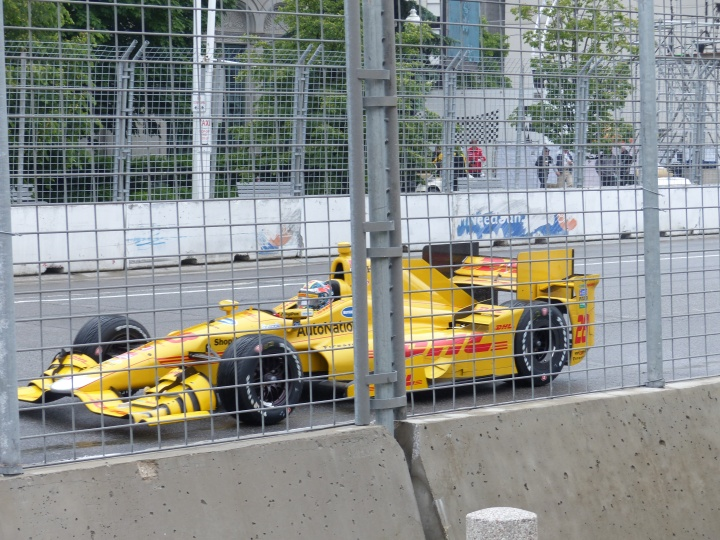 Indycar damp start