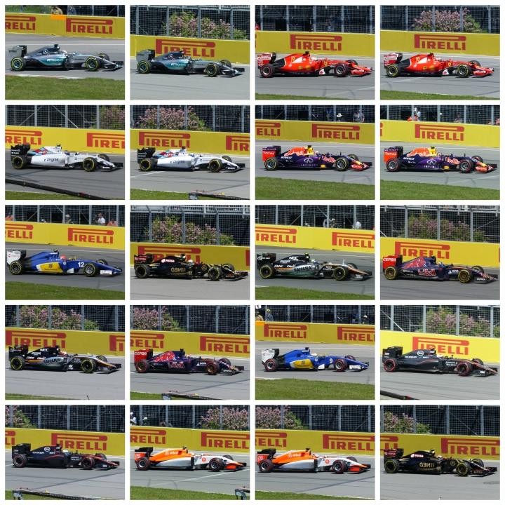 All 20 F1 drivers