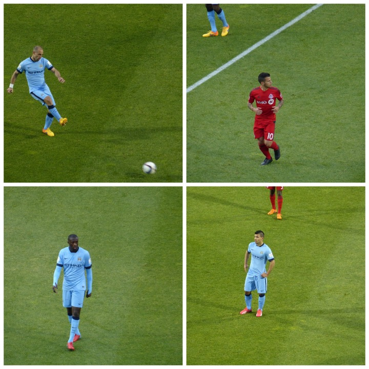 Match action Toronto and MCFC players