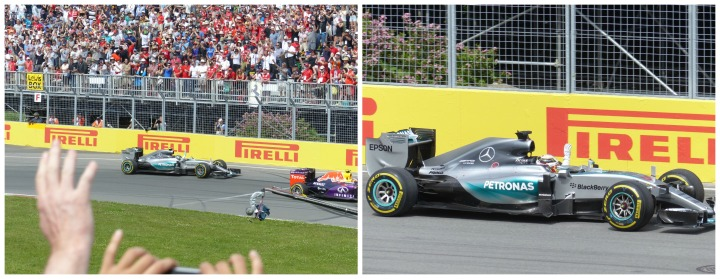 Celebrating Mercedes drivers