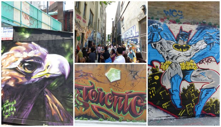 Graffiti Alley collage