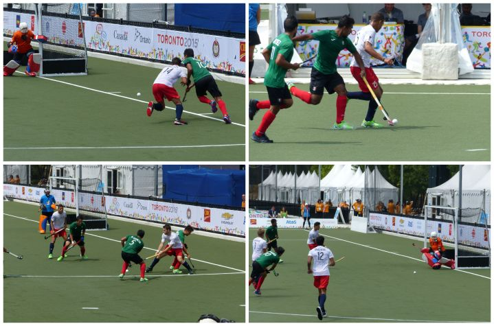 Pan Am field hockey action