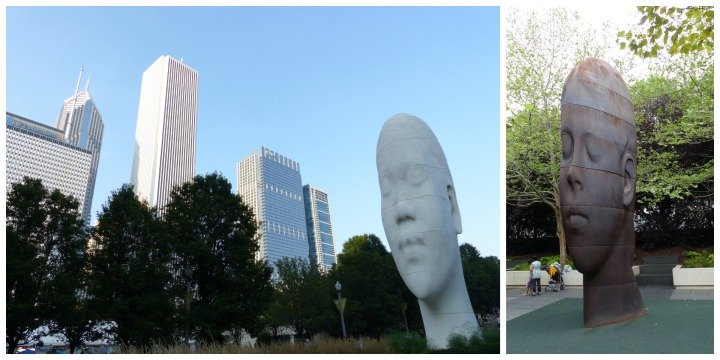 Millennium Park face sculptures