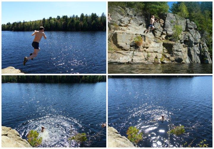 Joe Lake cliff jump