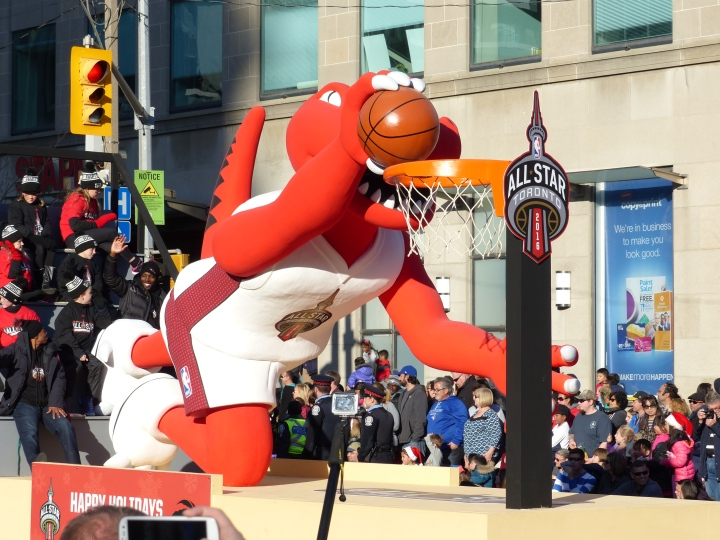 Raptors Float Toronto Santa Claus Parade