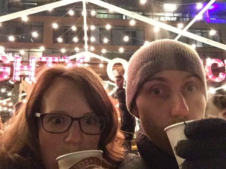 Turns out it's hard to take selfies whilst drinking hot drinks and wearing gloves!