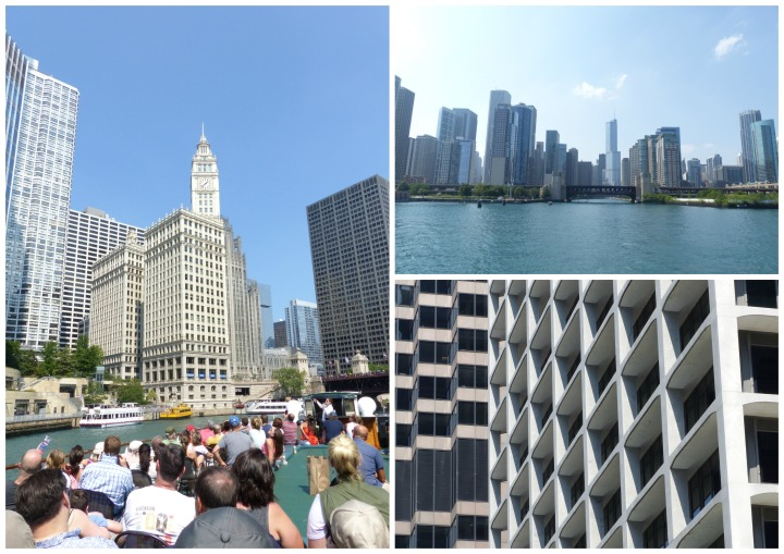 Chicago river cruise views