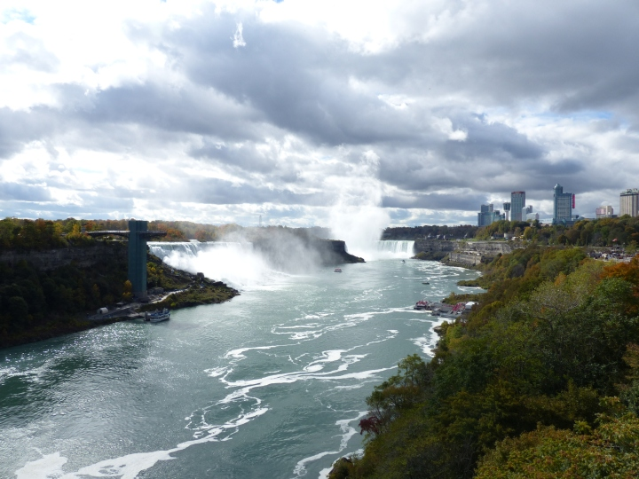 View from Rainbow Bridge Niagara Falls