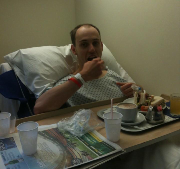 Stewart in hospital