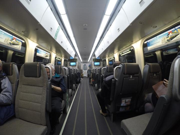 UP Express interior
