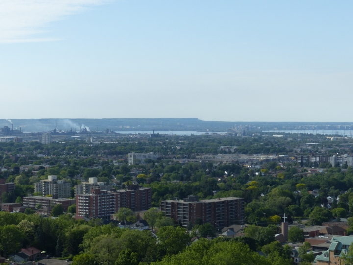 Devil's Punchbowl view of Hamilton