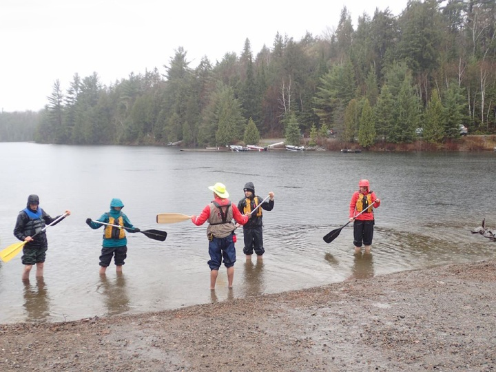 Canoeing in the rain Algonquin