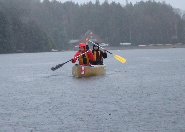 Canoe Lake Algonquin Rain