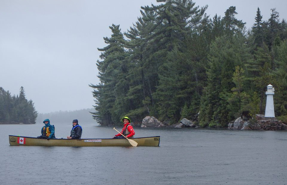 Canoeing in the rain Algonquin Provincial Park